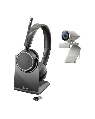 Poly Studio P5 with Voyager 4220 UC [USB-A] - Профессиональная веб-камера и беспроводная стереогарнитура (Polycom)