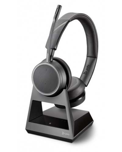 Poly Voyager 4220 Office [212721-01] - Беспроводная гарнитура, 1-контактная база, стандартный кабель для зарядки
