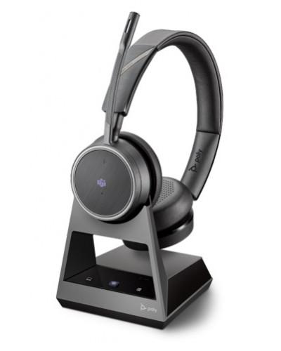 Poly Voyager 4220 Office [214003-01] - Беспроводная гарнитура, 2-контактная база, Microsoft Teams, USB-A