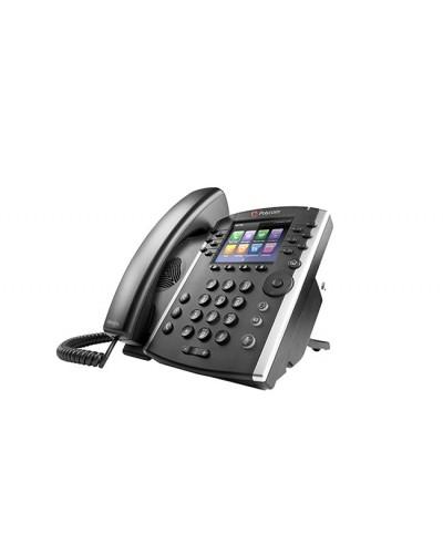 Polycom VVX 400 - Бизнес медиа-телефон с цветным дисплеем, поддерживающий 12 линий и Polycom HD Voice